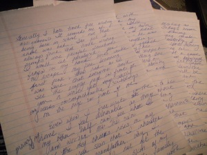 My free writing by hand