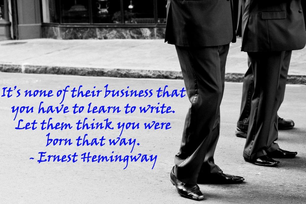 Writer's Quote Wednesday: Ernest Hemingway (2/2)