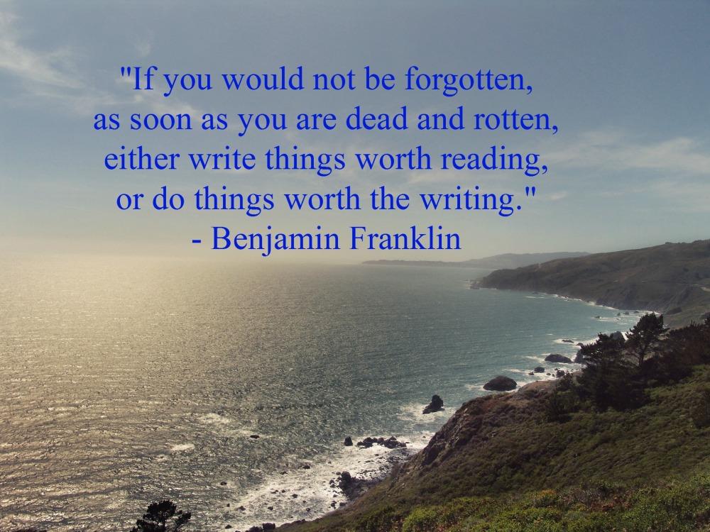 Writer's Quote Wednesday: Benjamin Franklin (2/2)