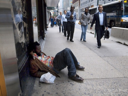 New York City. Homeless man.