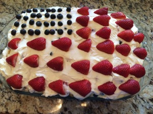 Flag Cake Trifle.